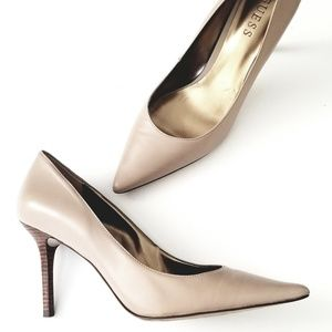Nude Leather Guess heels 8.5
